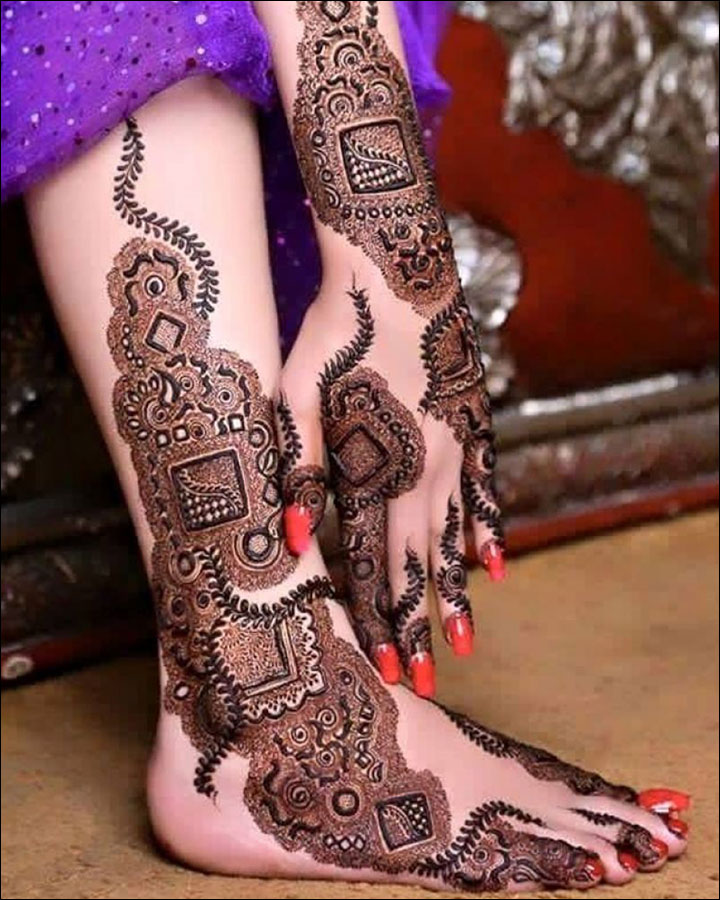 Latest-Mehndi-Designs-on-Arm-and-Leg for Eid