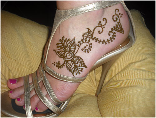foot easy and simple mehndi design