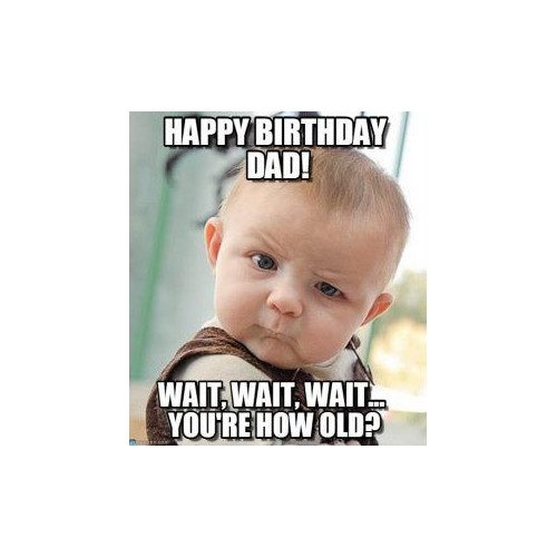 happy birthday dad from cute baby