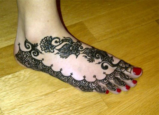 Arabic Anklet Foot Mehndi Designs