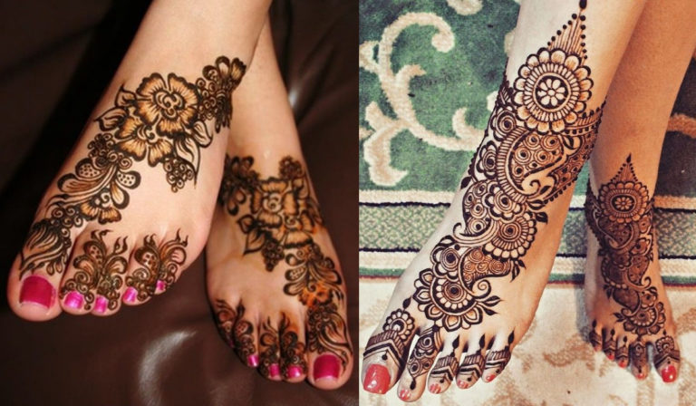Intricate-love-Mehndi designs for foot768x448