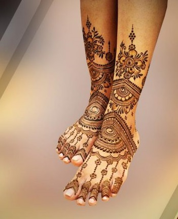 arabic foot and legs complete set mehndi design