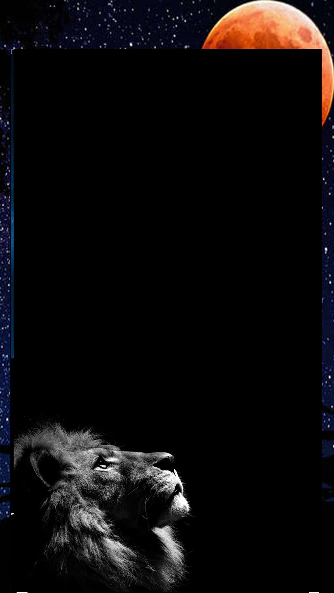 loin looking at sky amazing balck background 1080p